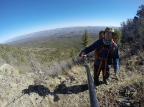 Hiking along the great Continental Divide Trail.